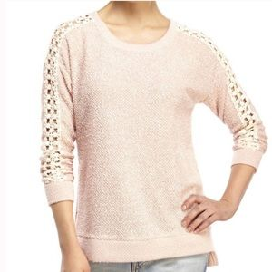 Jessica Simpson Sweater w/Lace Detail